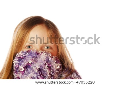Young girl wearing scarf - stock photo