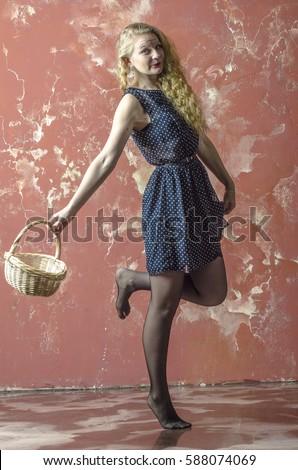 stockings blond teen