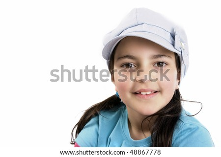 young girl with hat - stock photo