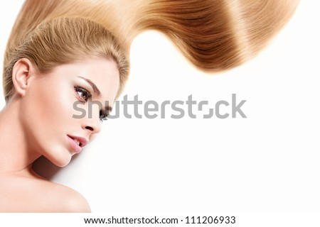 Young girl with healthy hair