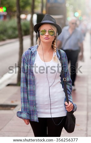 Young girl with urban style