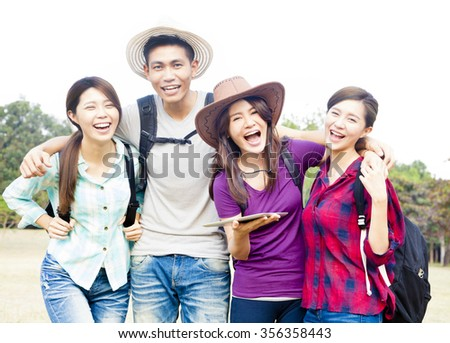 young group enjoy vacation and tourism
