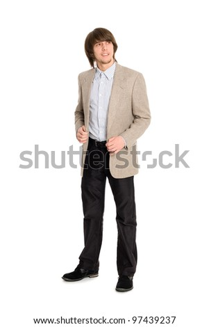 Young guy looking to the side. - stock photo