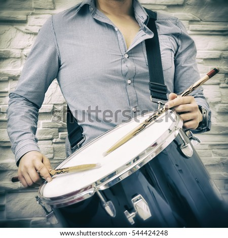 Young Guy Playing Snare Drum
