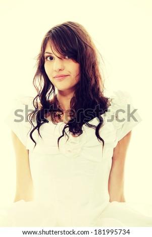 Young happy bride  - stock photo
