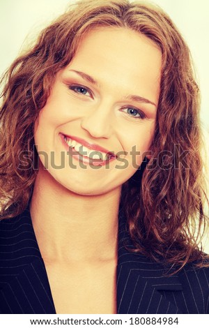 Young happy businesswoman - stock photo