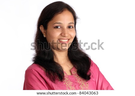 Young happy indian woman - stock photo
