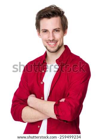 Young happy man - stock photo