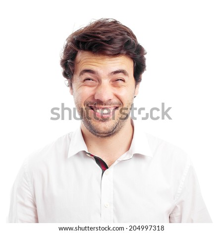 young happy man with chinese face