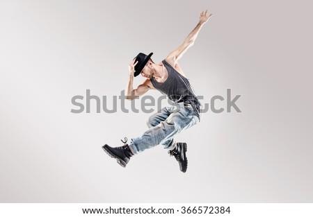 Young hip-hop dancer - stock photo
