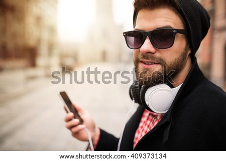 Young hipster - stock photo