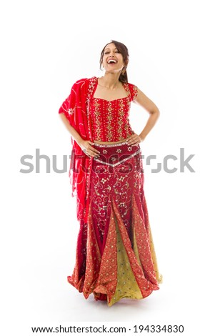 Young Indian woman laughing - stock photo