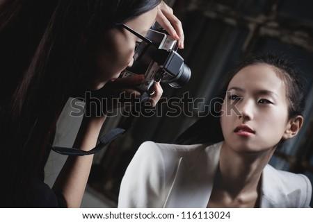 Young japan women fashion shooting. - stock photo