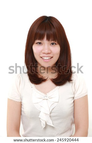 young Japanese woman - stock photo