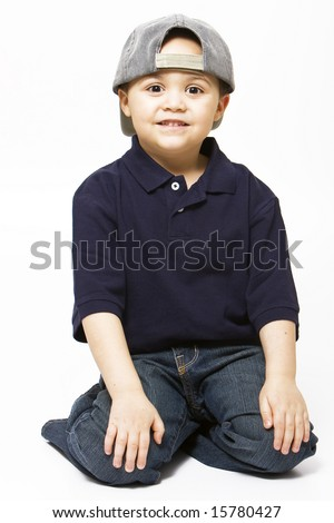 wearing baseball caps backwards a hat indoors hair loss stock photo young boy cap