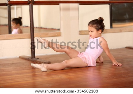 Young little girl ballet dancing - stock photo
