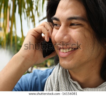 Young Male on the Phone