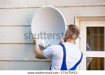 Tv Satellite Dish Images RoyaltyFree Images Vectors – Satellite Dish Technician