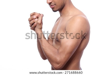 Young male underwear model - stock photo
