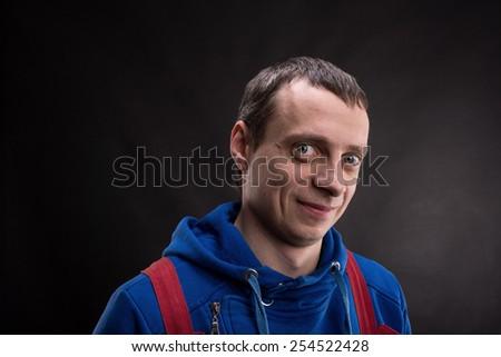 Young man close up - stock photo