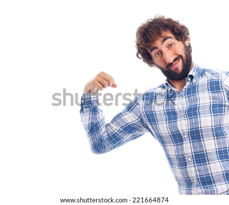 young man force and power - stock photo