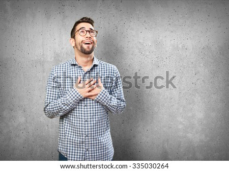 young man in love - stock photo