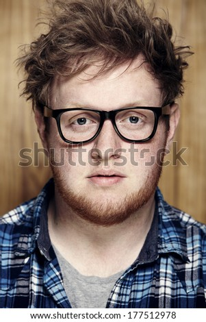 Young man in spectacles, portrait