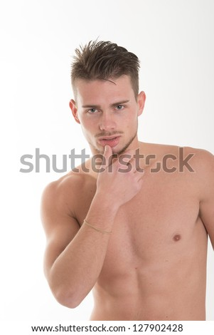 young man naked