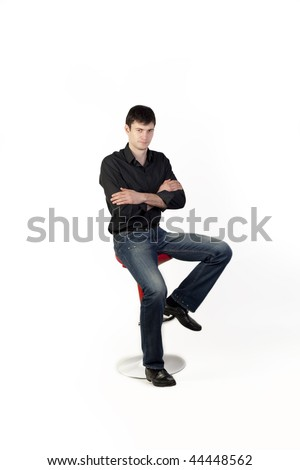 Young man on a chair