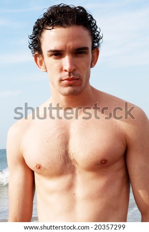 young man on beach