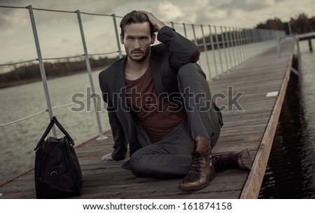 Young man outdoor - stock photo