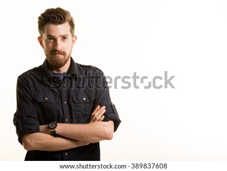 Young Man Portrait - stock photo