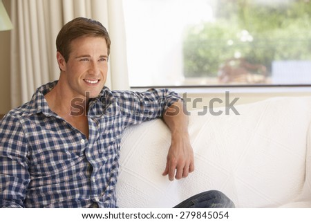 Young Man Relaxing At Home