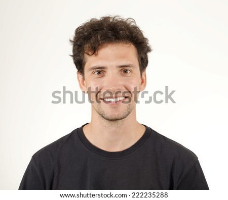 Young Man Smiling Portrait. - stock photo