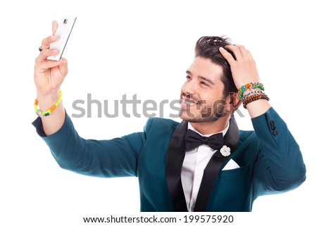 young man summer - stock photo