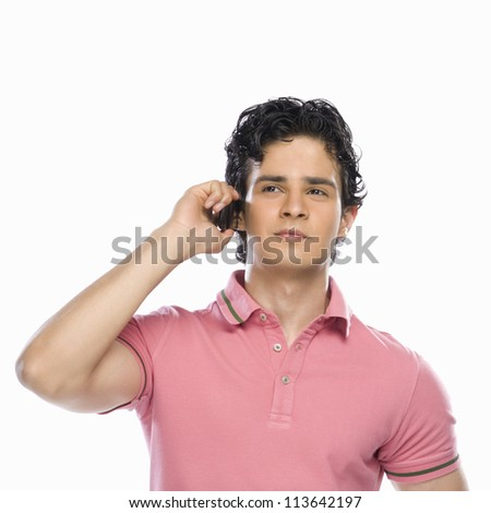 Young man talking on a mobile phone