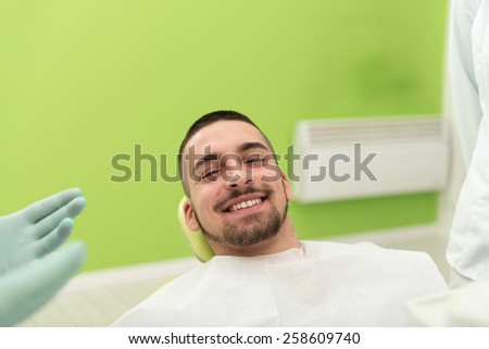 Young Man Waiting For A Dental Exam - stock photo