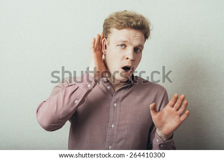 young man which overhears conversation