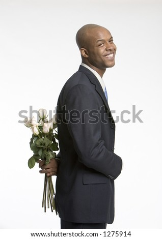 Young man with a surprise - stock photo