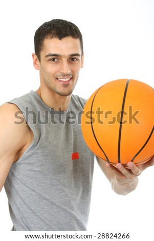Young Man with basketball.