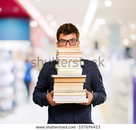 Young Man With Books, Indoor