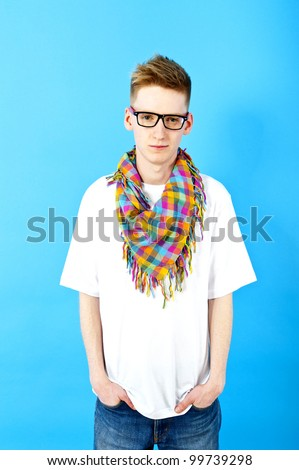 young man with eye glasses - stock photo