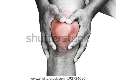 Young man with knee pain  - stock photo