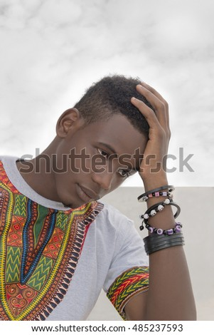 Young man worrying about his future