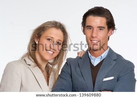 Young married couple portrait - stock photo
