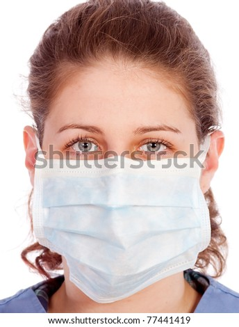 Young medical worker with mask