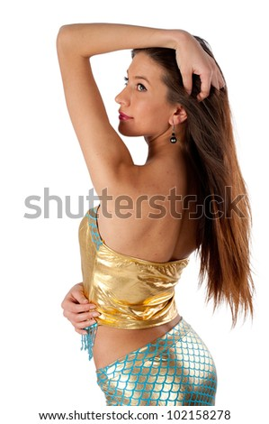 Young mermaid - stock photo