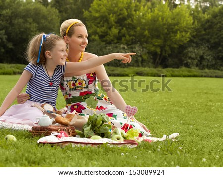 Young Mother and Daughter Playing. Mother day. Happy family. - stock photo