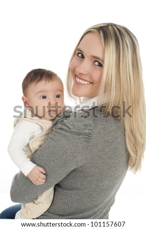 Young mother with baby