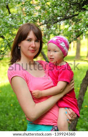 Young mother with cute baby